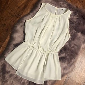 Cream colored blouse